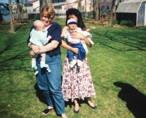 Sher and Lyn with babies